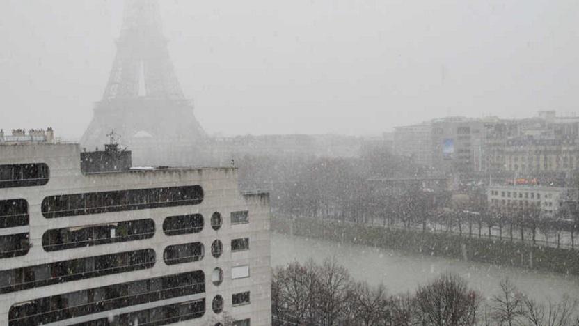 Image d'illustration pour Giboulée, orage, vent et neige à Paris autour de la dépression Jake