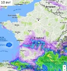 Image d'illustration pour Goutte froide : orages, fortes pluies et crues au Sud