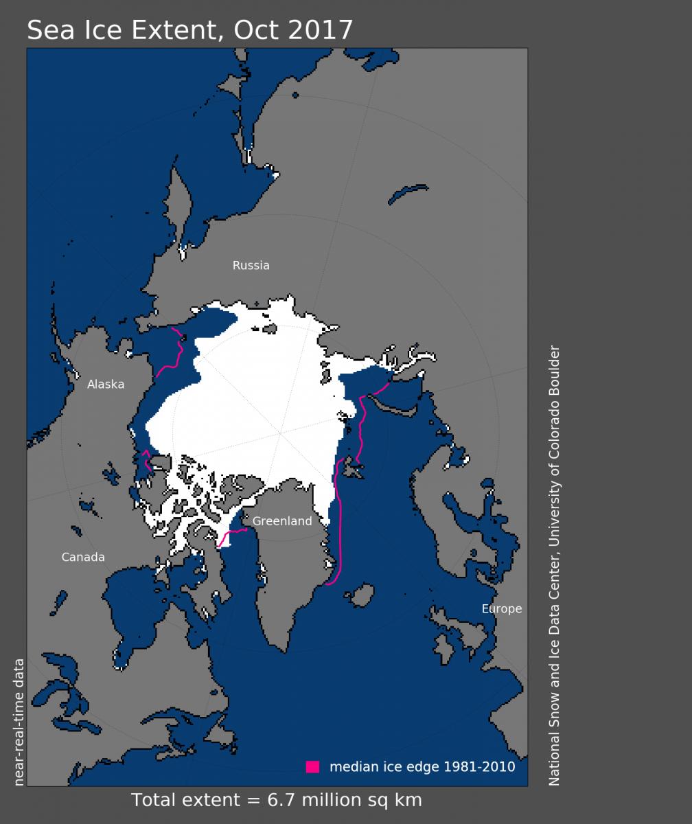 Image d'illustration pour Banquise Arctique en Octobre : début de glaciation en demi-teinte