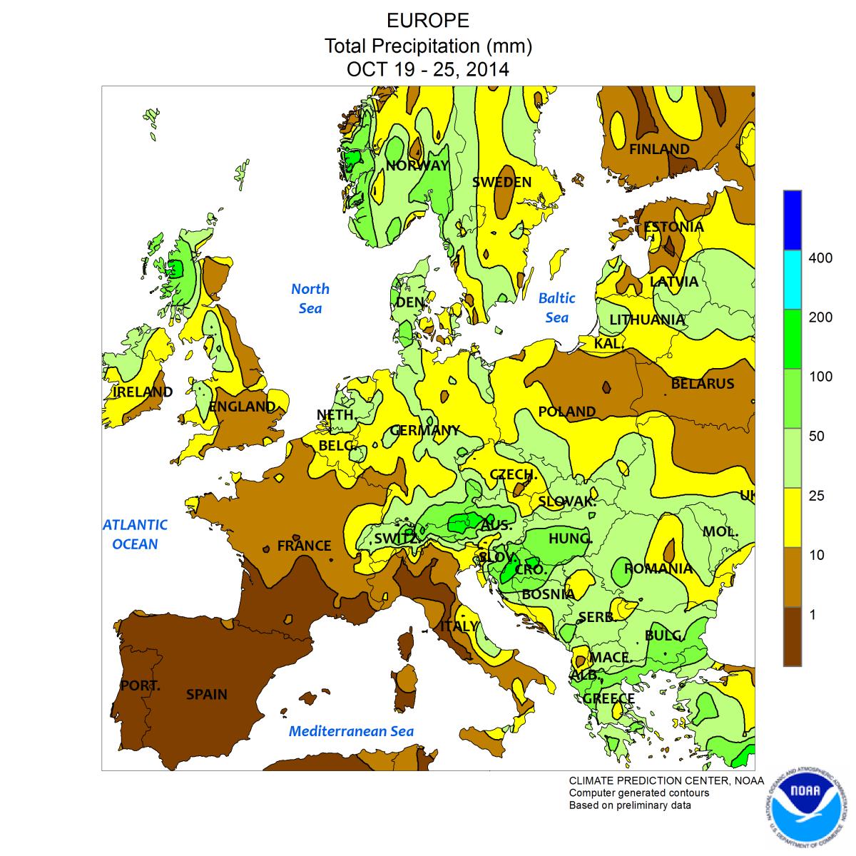 Image d'illustration pour Europe : très chaud vers l'Espagne, très froid vers la Russie
