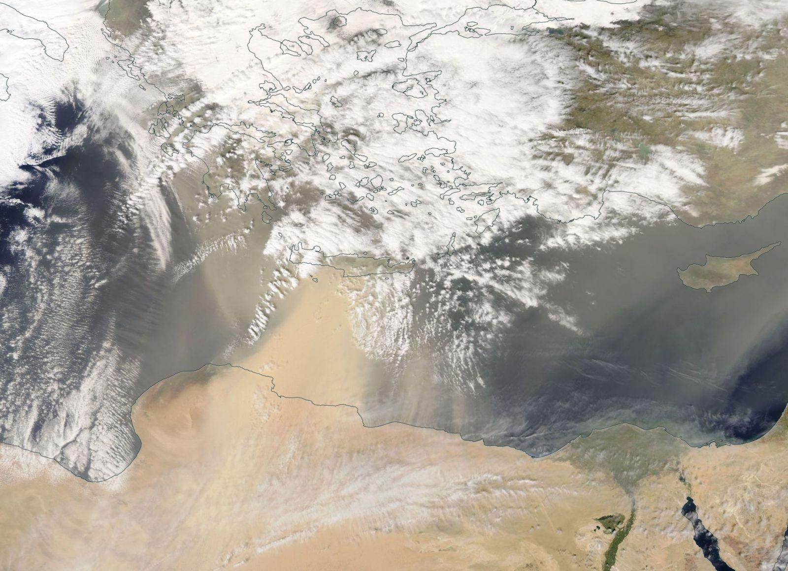 Image d'illustration pour Fortes chaleurs et tempête de sable sur l'Est de la Méditerranée