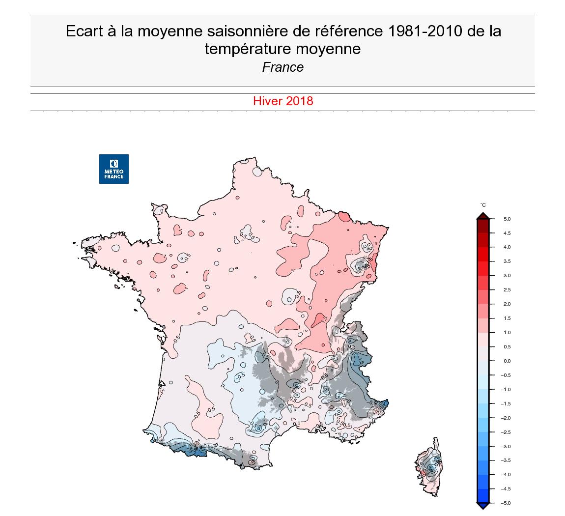 Image d'illustration pour Bilan de l'hiver 2017/2018 : doux mais très fortement pluvieux