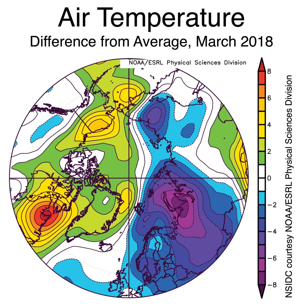 Image d'illustration pour Arctique : faiblesse quasi-record du maximum glaciaire hivernal