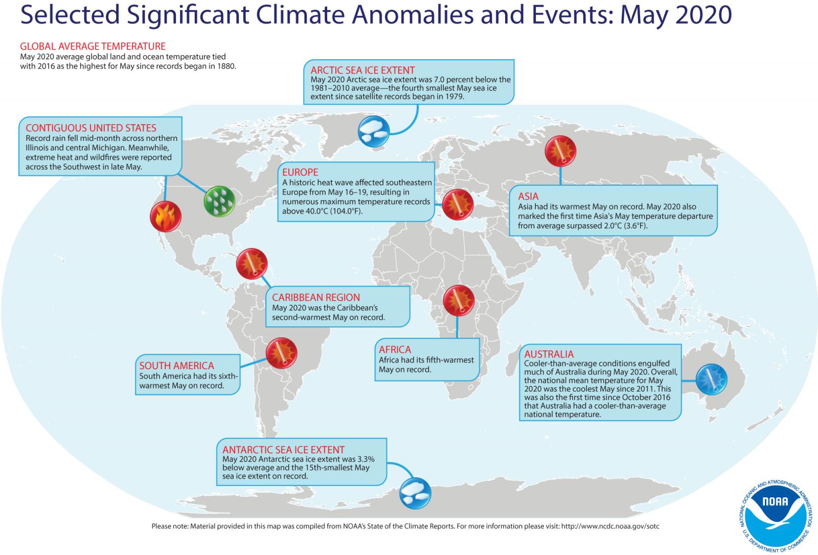 Image d'illustration pour Mai 2020, mois de mai le plus chaud jamais observé dans le monde