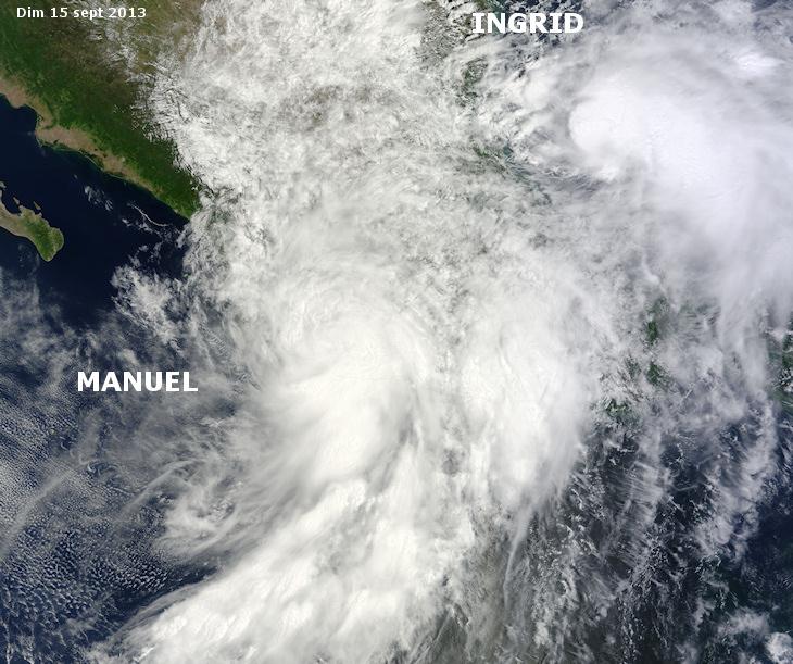 Image d'illustration pour Ex ouragans Manuel & Ingrid (Mexique)