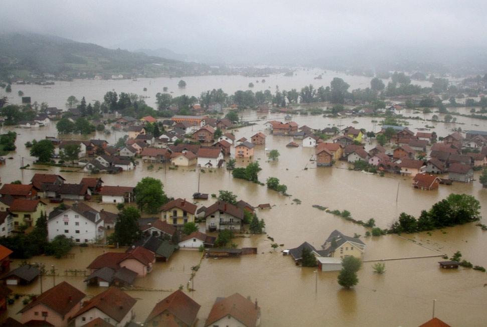 Image d'illustration pour Inondations meurtrières en Serbie et en Bosnie