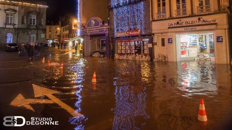 Image d'illustration pour Coup de vent, fortes pluies et inondations en Bretagne