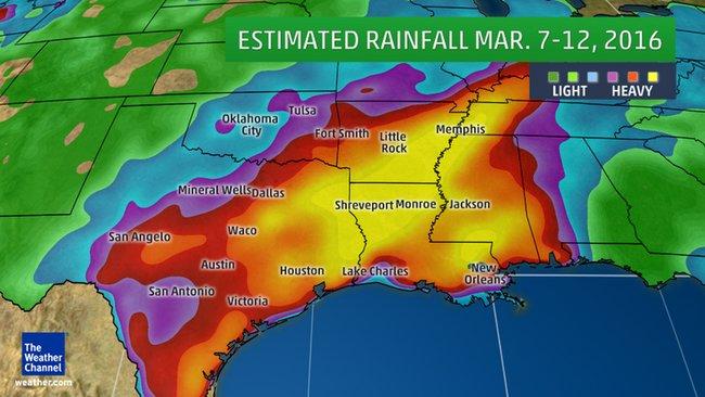 Image d'illustration pour Inondations et tornades sur le Sud des Etats-Unis