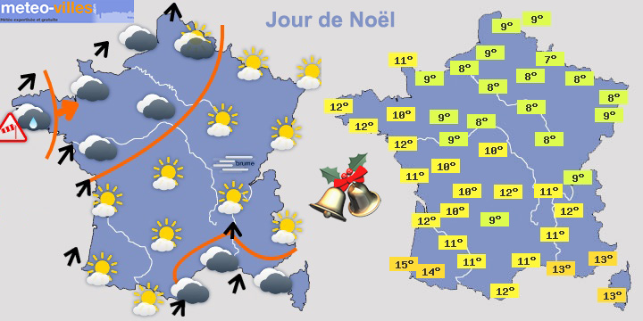 Image d'illustration pour Quelles conditions météo pour Noël ?