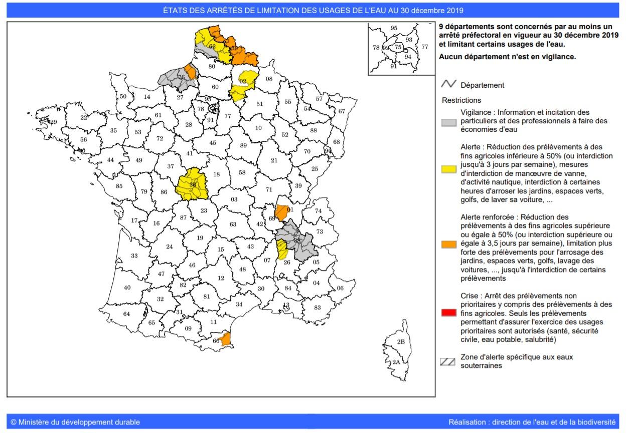 Image d'illustration pour Cours d'eau en France : crues après la sécheresse...