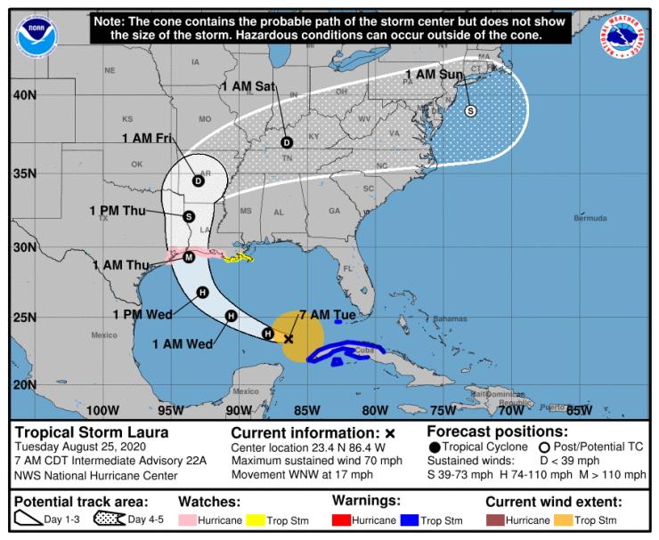 Image d'illustration pour Ouragan Laura : Un des plus puissants de l'histoire des Etats-Unis