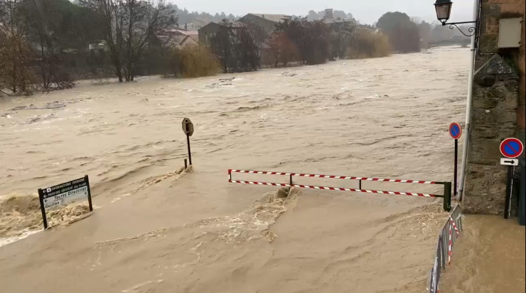 Image d'illustration pour Neige, pluies et crues : bilan des intempéries dans le Roussillon
