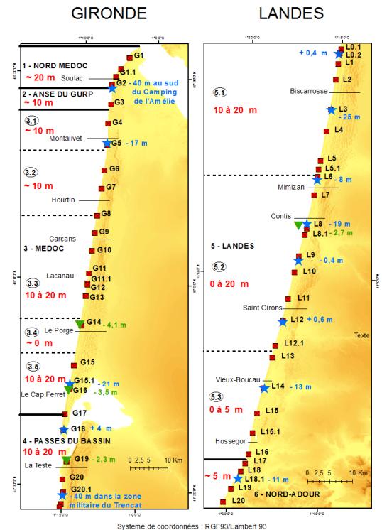 Image d'illustration pour Erosion sur la cote Atlantique suite aux tempêtes de l'hiver