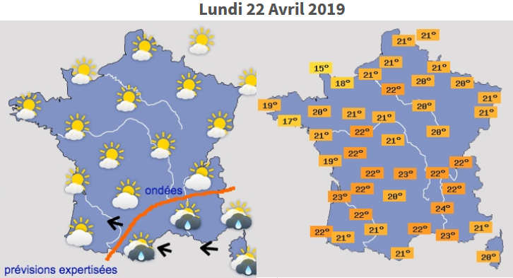Image d'illustration pour Votre météo pour le week-end Pascal