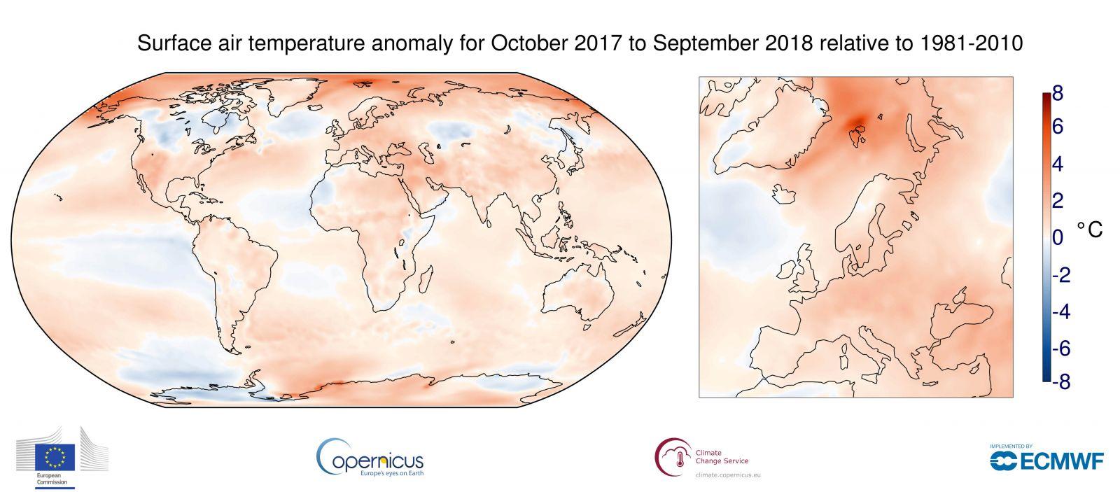 Image d'illustration pour Septembre 2018 le plus chaud de l'histoire récente en Europe