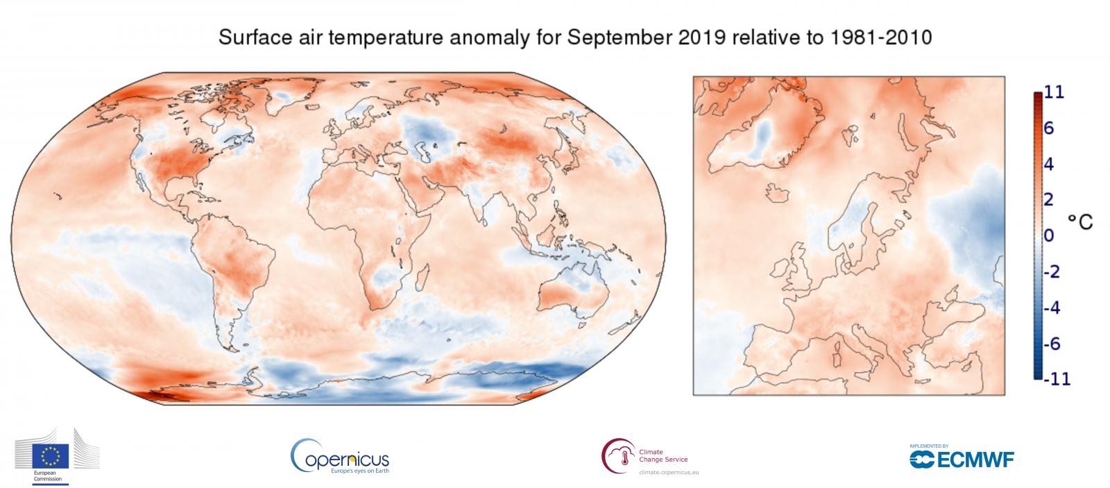 Image d'illustration pour Septembre 2019 le plus chaud dans le Monde, déjà des records pour octobre