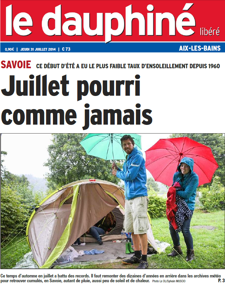 Image d'illustration pour Fortes pluies du Massif Central à l'Est - Inondations en Drôme, Isère et Savoie
