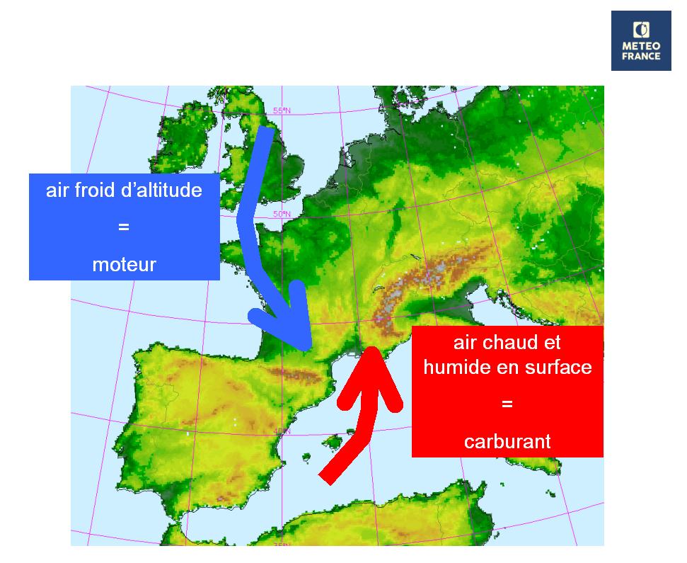 Image d'illustration pour Nouvelles fortes pluies près de la Méditerranée en fin de semaine