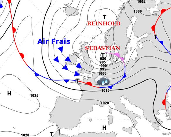 Image d'illustration pour Pluies abondantes, vent, fraicheur : poursuite de l'agitation