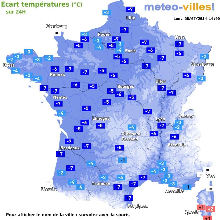 Image d'illustration pour Front froid et goutte froide : nouvelle baisse des températures