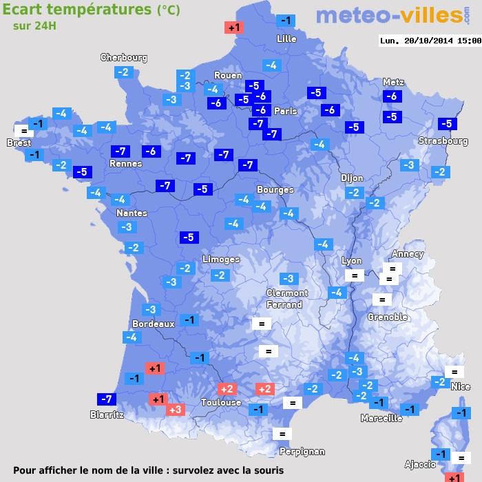 Image d'illustration pour Baisse des températures et gelées blanches sur la France