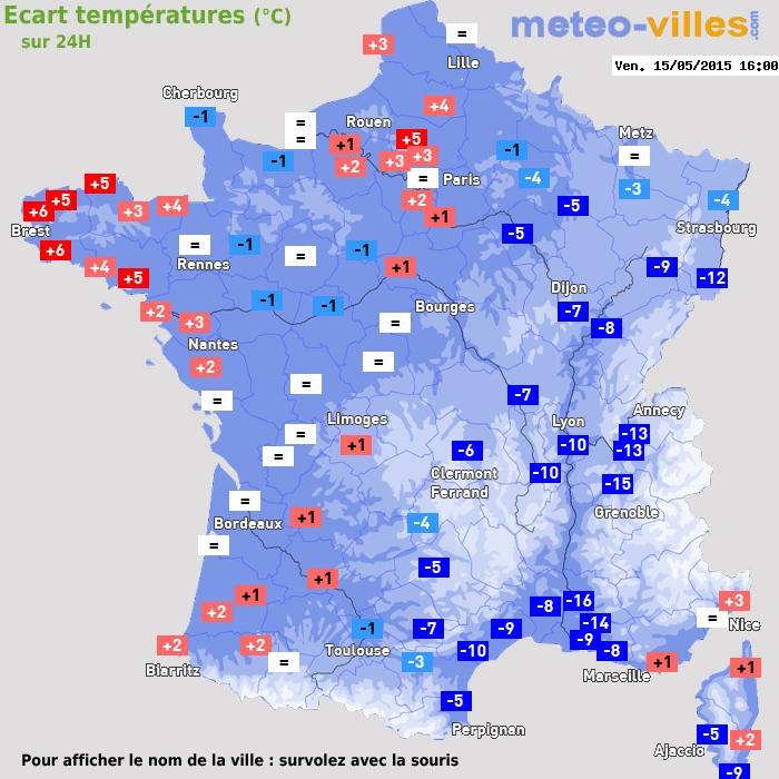 Image d'illustration pour Chute remarquable des températures sur l'Est de la France