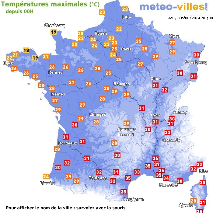 Image d'illustration pour Synthèse des fortes chaleurs du 6 au 14 juin