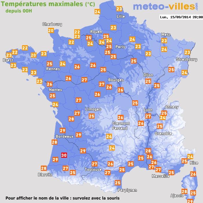 Image d'illustration pour Temps très estival pour une mi-septembre : chaud et orageux