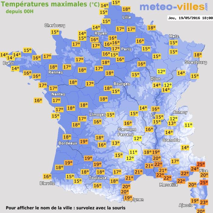 Un samedi temporairement chaud 19 mai 2016 - Meteo rennes samedi ...