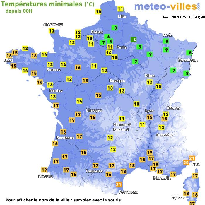 Image d'illustration pour Fraîcheur matinale sur le Nord-Est de la France