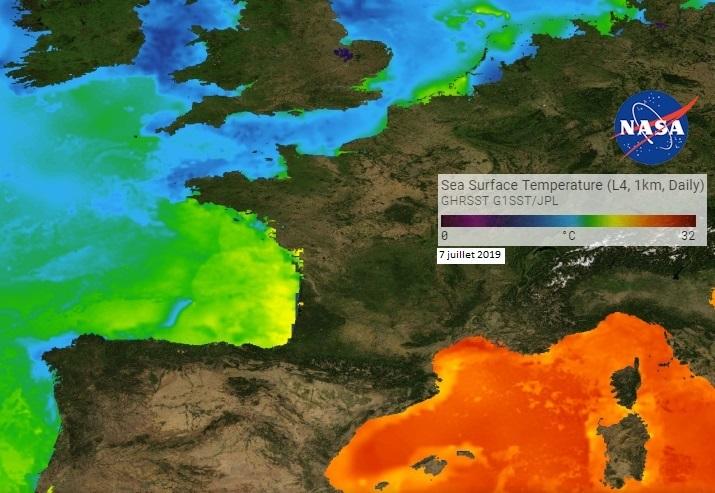 Image d'illustration pour Météo des plages - température de mer très élevée