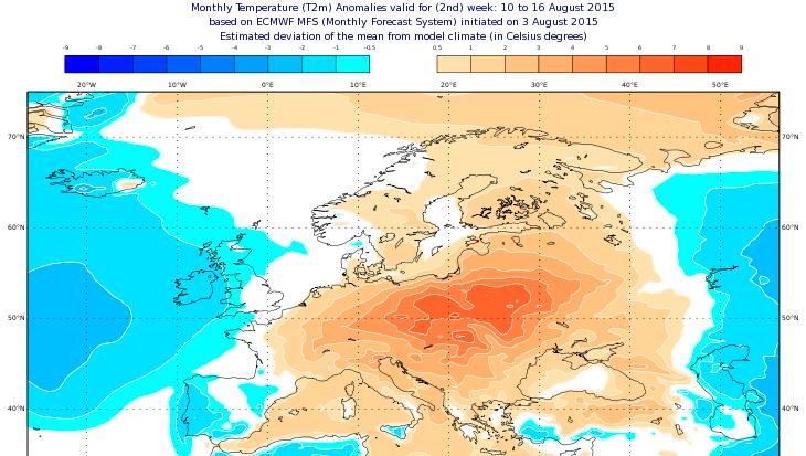 Image d'illustration pour Fortes chaleurs en juillet en Europe - Bis repetita en août ?