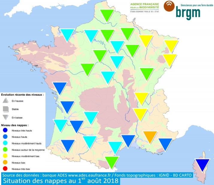 Image d'illustration pour Bulletin de niveaux des nappes phréatiques au 1er août