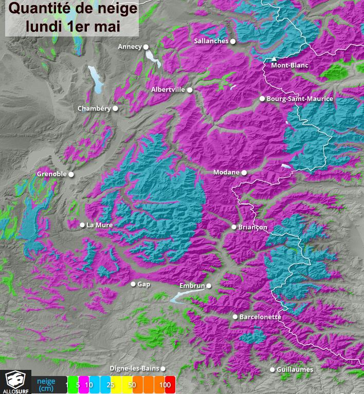Image d'illustration pour Orages et neige en montagne: agitation jusqu'à lundi