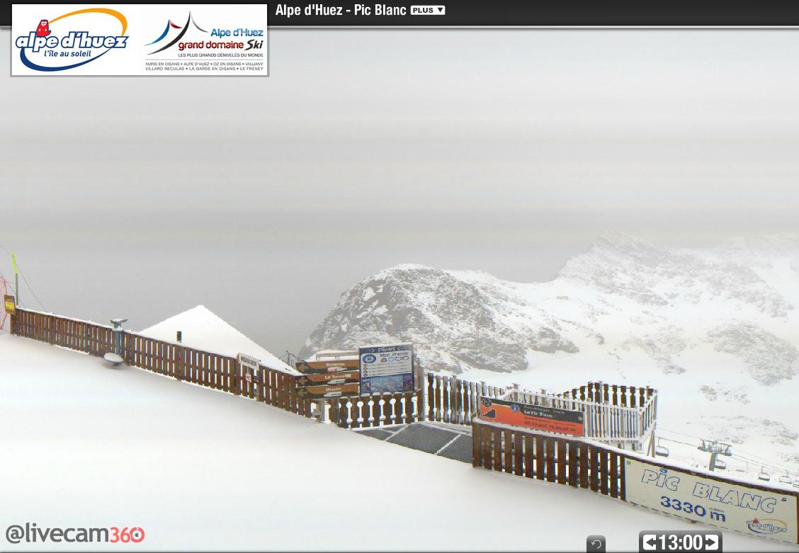 Image d'illustration pour Retour de la neige en haute montagne sur les Alpes - Risque d'avalanche