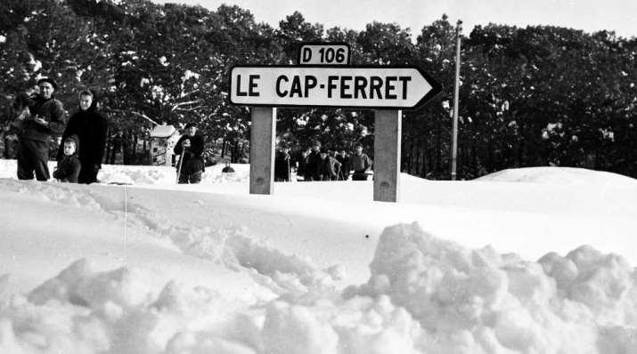 Image d'illustration pour Jusqu'à 80 cm de neige en février 1956 en Aquitaine