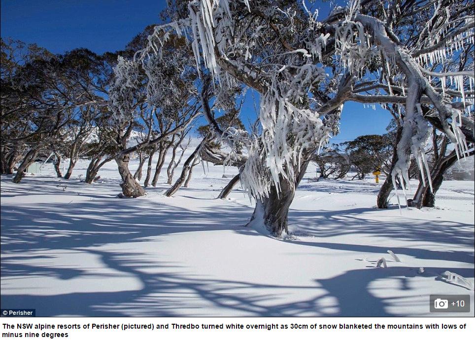 Image d'illustration pour Premières neiges de l'hiver austral en Australie
