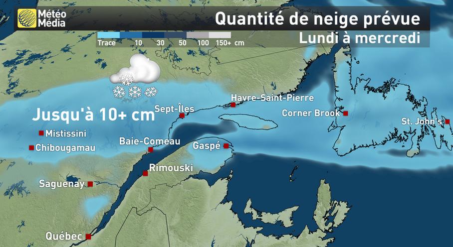Image d'illustration pour Retour de la neige sur les Etats-Unis et le Canada