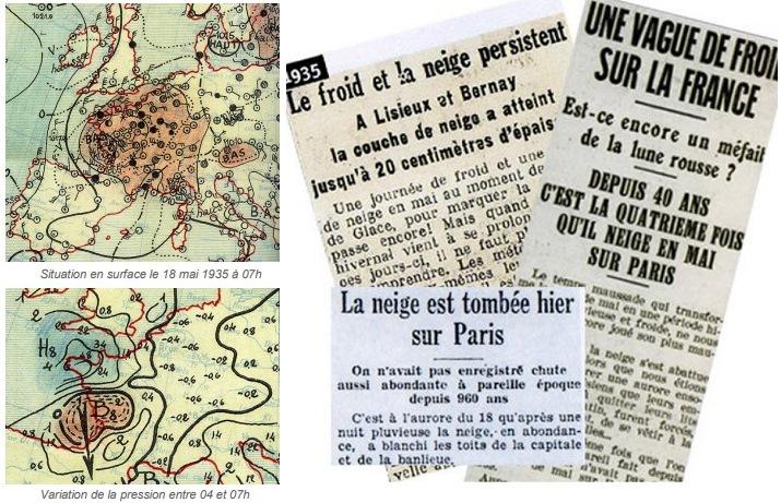 Image d'illustration pour Neige et froid exceptionnels à la mi-mai 1935, y compris à Paris