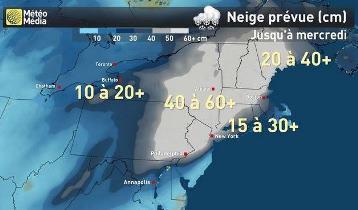 Image d'illustration pour Tempête de neige Stella après un hiver doux en Amérique du Nord
