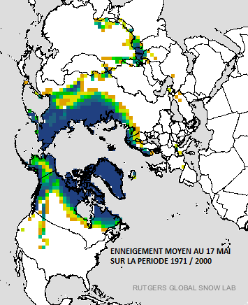 Image d'illustration pour L'enneigement au plus bas ce printemps sur l'hémisphère Nord