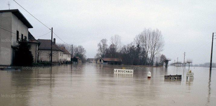 Image d'illustration pour Neige abondante & inondations vers les Alpes mi-février 1990
