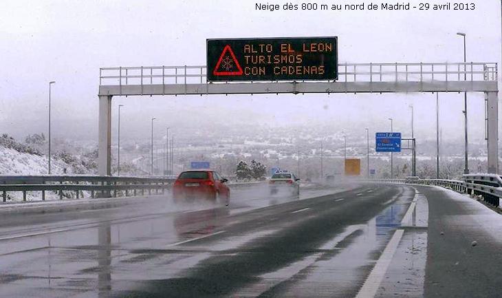 Image d'illustration pour De la neige vers Madrid lundi