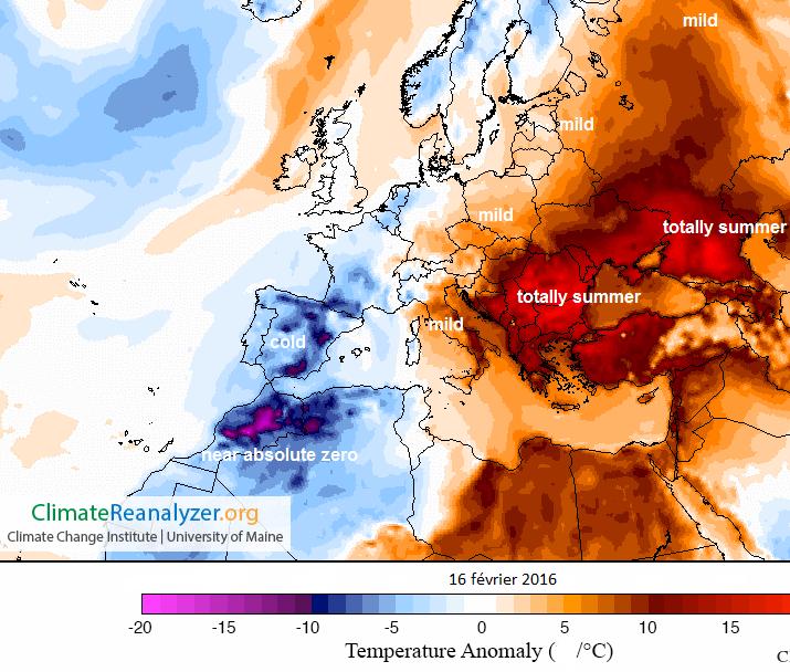 Image d'illustration pour Neige au Maghreb et records de chaleur près des Balkans