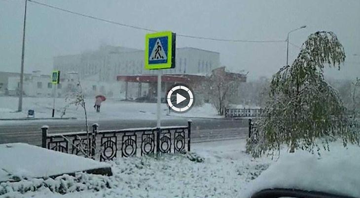 Image d'illustration pour Brutal changement de temps en Sibérie - Neige à Nadym