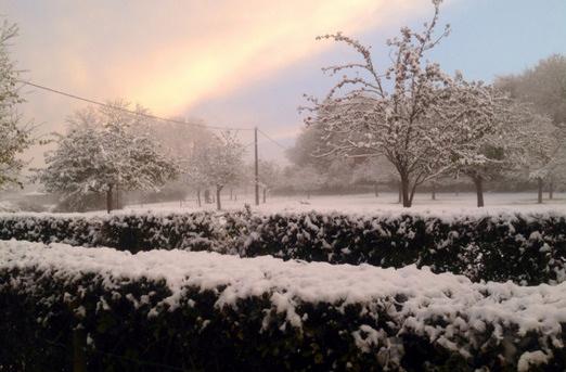 Image d'illustration pour Premières neiges en Normandie, Picardie et Nord Pas de Calais