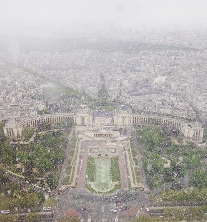 Image d'illustration pour Forte instabilité et giboulées de neige jusqu'à Paris
