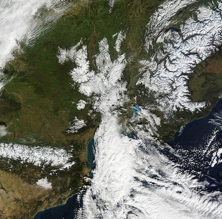 Image d'illustration pour Neige sur la Provence, le Gard et l'Herault