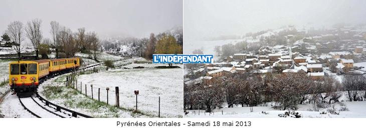 Image d'illustration pour Encore de la neige sur les Pyrénées et les Alpes