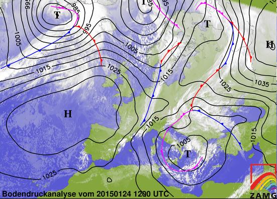 Image d'illustration pour Synthèse de l'épisode de neige, verglas et vent du 23 au 25 janvier